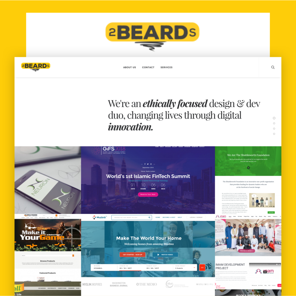 2beards.co Brand & Website